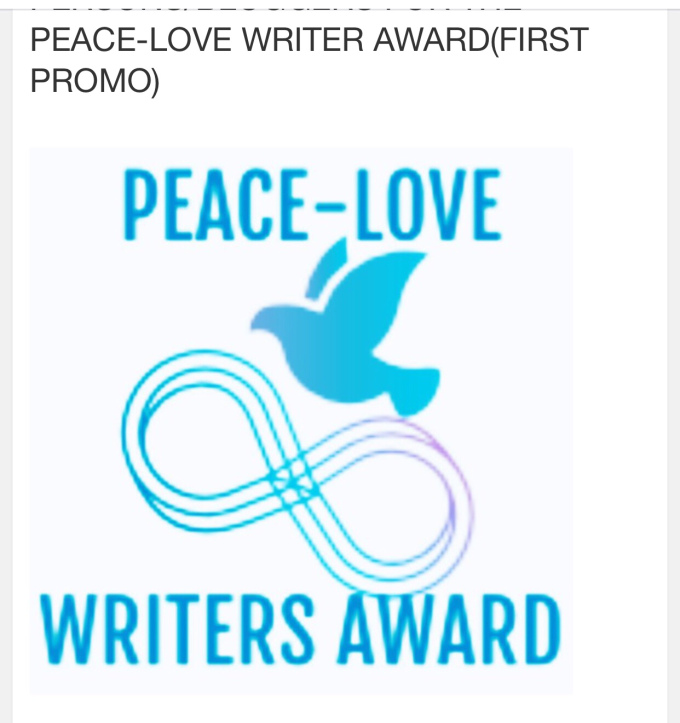 Nominated for Peace-Love-Writers Award(1st)