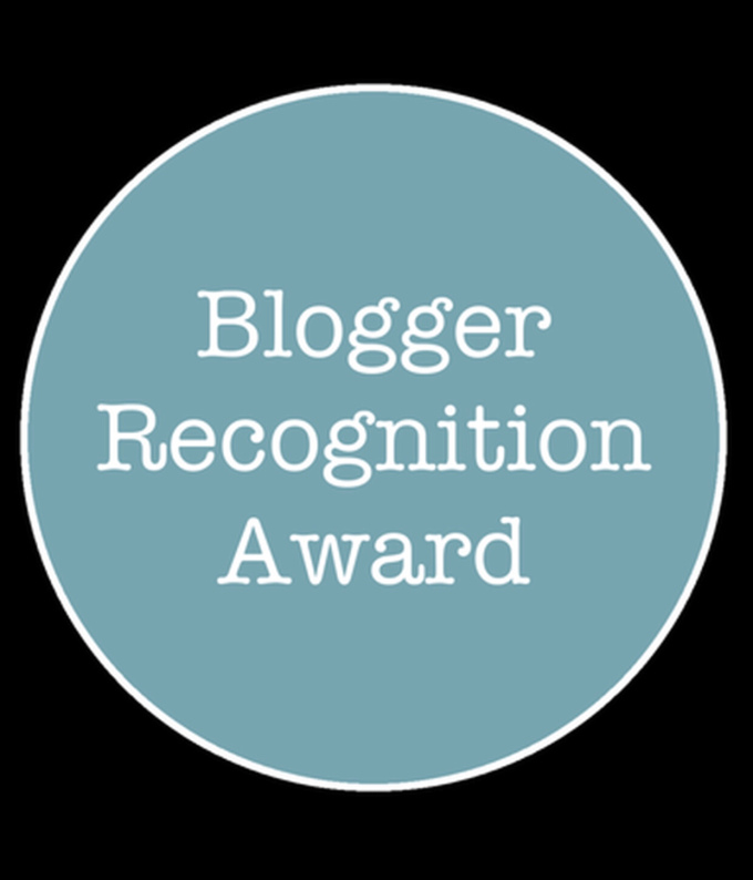 Nominated for Blog Recognition Award(3rd)