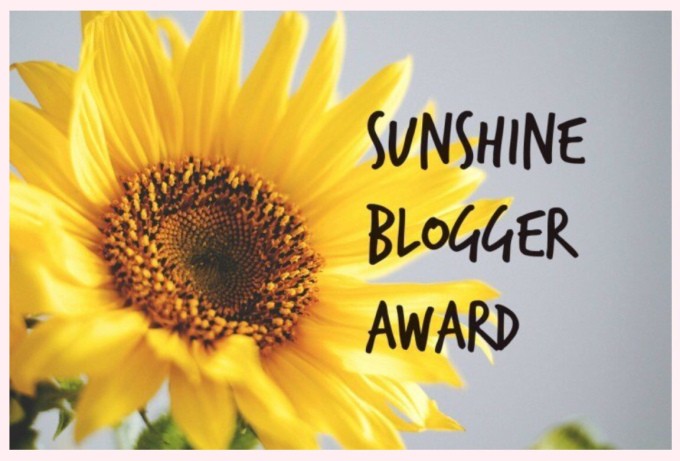 Nominated for Sunshine Blogger Award (8th)