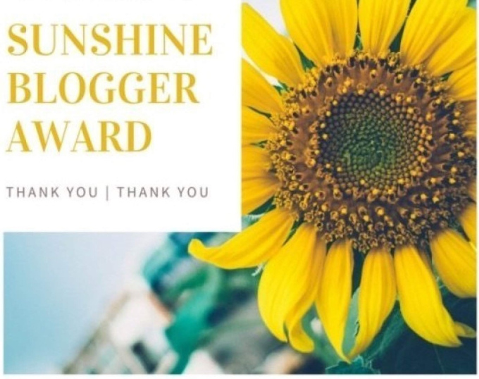 Nominated for Sunshine Blogger Award (9th)