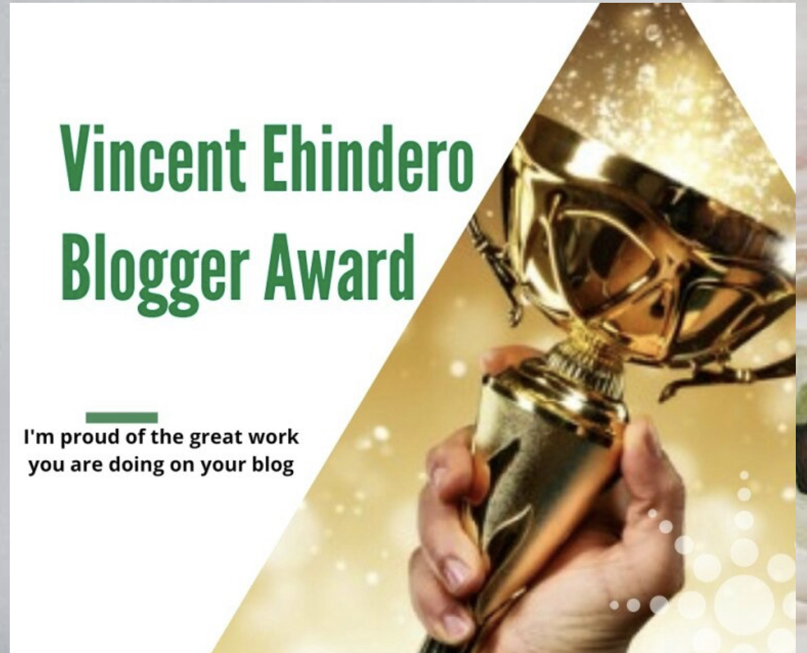 "Nominated for ""The Vincent Ehindero award"""