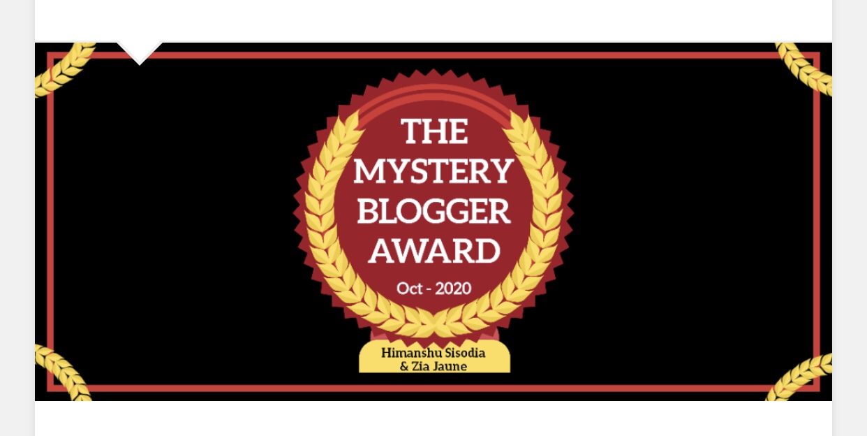 Nominated for Mystery Blogger Award (12th)